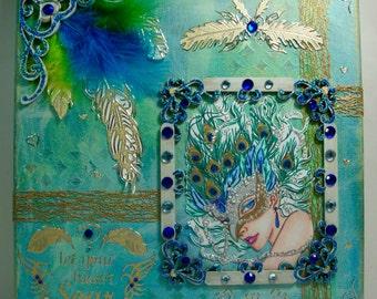 Inspirational Mixed Media Canvas, Mixed Media Canvas, Canvas Art, Wall Art, Art, Gift, Unique Gift,