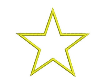 12 size -STAR Applique Design Machine Embroidery   -INSTANT DOWNLOAD