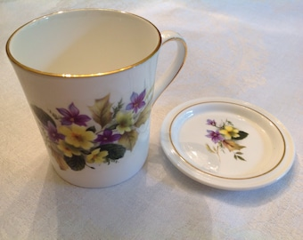 Oakley bone china coffee cup and coaster
