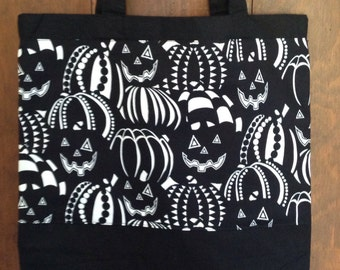 Glow in the Dark Trick or Treat Bag, Halloween Bag, Glow in the Dark Bag, Halloween Candy Tote, Handmade, Halloween Tote Bag, Trick or Treat