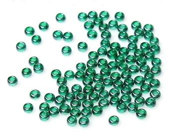 20 g seed beads - 10/0 - dark green / M1-0626