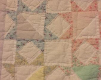 Baby Quilt Pastel  Colors