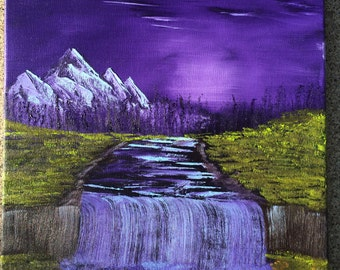 Purple Sunset Canvas Oil Painting