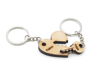 Personalised couples keyrings you hold the key to my heart,  his and hers keychains, his and hers keyrings, custom keychain, housewarming .