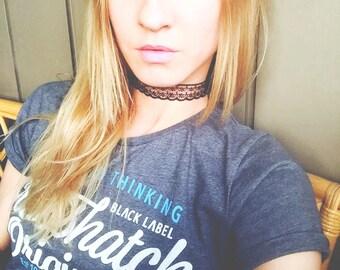 Black Lace Love Choker
