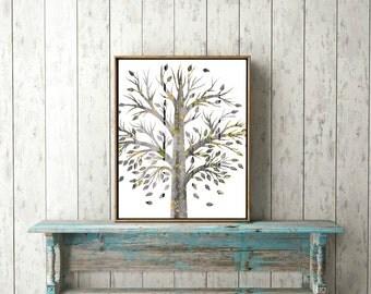 printable wall art fall trees leaves autumn