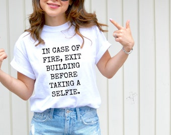 In case of fire t-shirt, funny quotes, women's tee, graphic t-shirt, fashion
