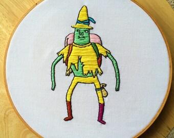 Magic Man Adventure Time Embroidery Art