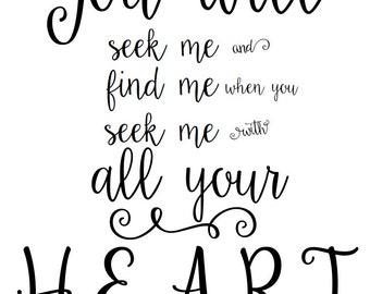 Jeremiah 29:13 Printable