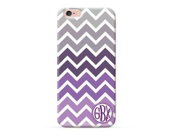 Personalized Purple chevron monogram iPhone 7 case clear, iPhone 7 plus case, iPhone 6 case iPhone 6s Case iPhone 6 plus case iPhone 5s case