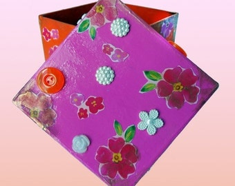 Brightly colored small Trinket Box