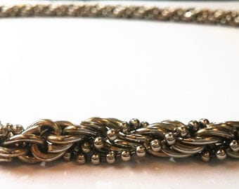 Hand woven vintage chain necklace