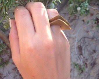 CORONA | Wooden | Ethnic 3d printed ring in wood