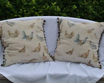 Game birds cushion