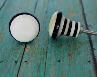Set of 4 Stripped Gear Cabinet Knob