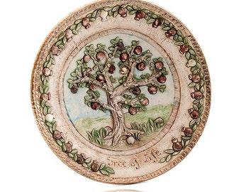 Tree of Life Ceramic Plate
