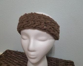 Brown earwarmer/headband