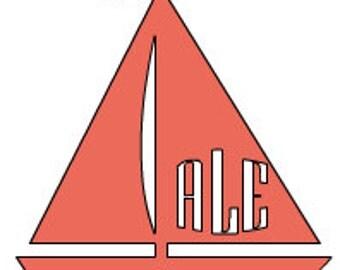 Sailboat Monogram