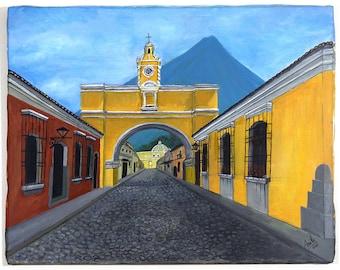 Antigua Guatemala Acrylic Painting