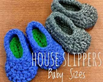 House Slippers - Baby Sizes