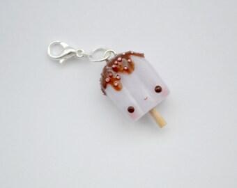 Kawaii Pink Popsicle Charm,miniature food jewelry,polymer clay jewelry,kawaii planner charm,kawaii necklace,kawaii earrings,kawaii ice lolly
