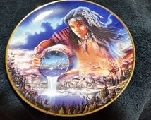 The Franklin Mint the waters of life Native American art collector plate