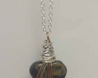 Black Onyx Wire Wrapped Necklace