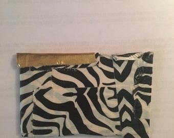 Zebra Print Duck Tape Change Wallet