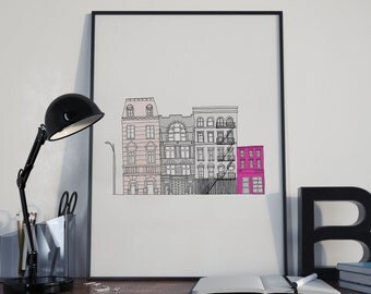New York Print, New York City printable, New York Skyline, NYC Print, Digital Print, Instant download