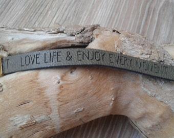 Imitation leather bracelet ENJOY-EVERY-TIME