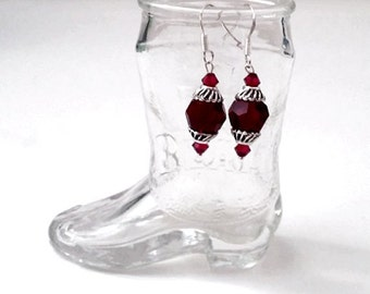 Swarovski Crystal & Sterling Silver January Birthstone Earrings