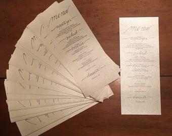 Personalized Wedding Menu PDF