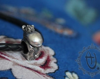 Moomintroll by Sashini beads design  925 sterling silver bead charm  fits european bracelet jewelry