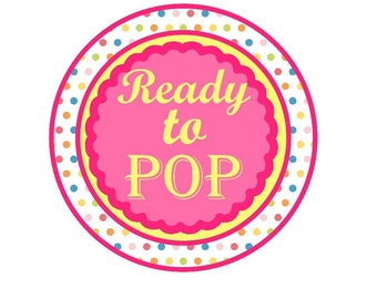 Ready To Pop Stickers Baby Shower *** INSTANT DOWNLOAD***  DIY Printable Digital File