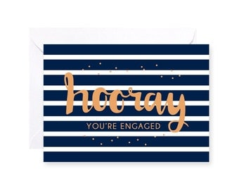Hooray You're Engaged Greeting Card
