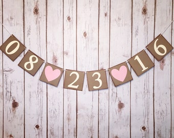 SAVE THE DATE banner, save the date sign, engagement banner, engaged banner, save the date photo prop, save the date photo banner