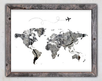 Watercolor world map printable continents world map print world map print world map download poster printable map instant download print gumiabroncs Gallery