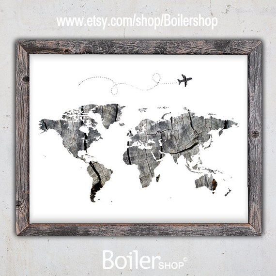 World map print world map download poster printable map world map print world map download poster printable map instant download print rustic print nursery room art travel print download gumiabroncs Choice Image