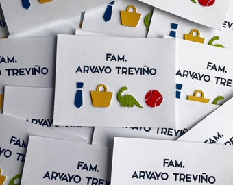 Postcards family personalized