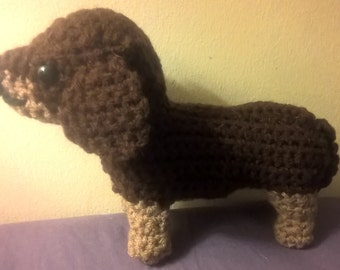 Dachshund Amigurumi Plush Dog