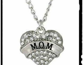 Beautiful Mom Austrian Crystal Necklace