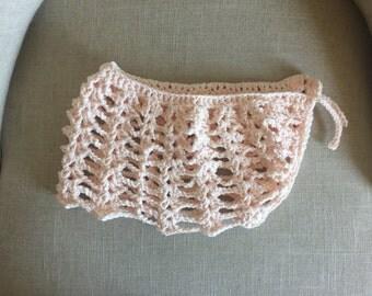 ADULT & TODDLER - Handmade crochet bathing suit, bikini cover up skirt
