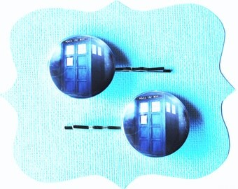 Doctor Who Tardis Blue Bobby Pins -  Dr Who Hair Pins