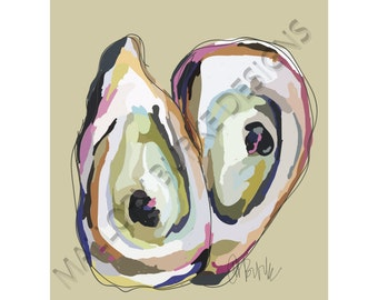 Twin Oyster Print