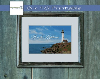 Printable 8x10 Lighthouse Wall Art