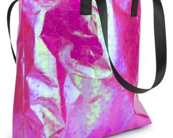 Iridescent Pink Shopper Bag