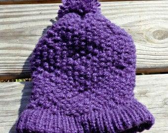 Purple Textured Adult Hat