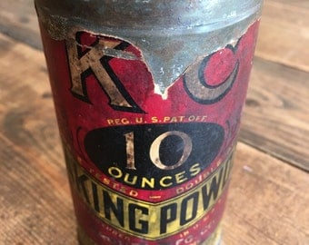 "Vintage 1940""s KC Baking Powder Tin"