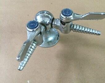 Industrial Scientific Gas line faucet by T&S Brass - 2 spout