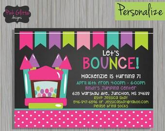 Bounce Invite, Bounce Invitation, Bounce Birthday, Bounce Party, Bounce House Invite, Bounce House Invitation, Bounce House, DIGITAL FILE